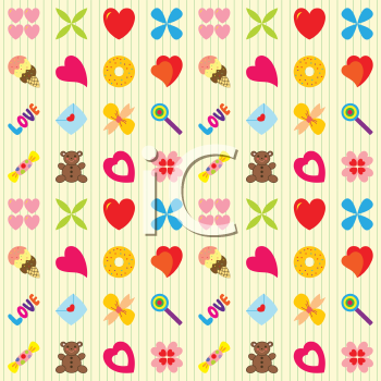Royalty Free Clipart Image of a Valentine's Day Pattern