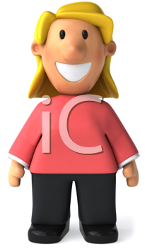 Royalty Free Clipart Image of a Smiling Woman