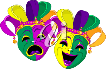 Mardi Gras Comedy and  Tragedy Masks