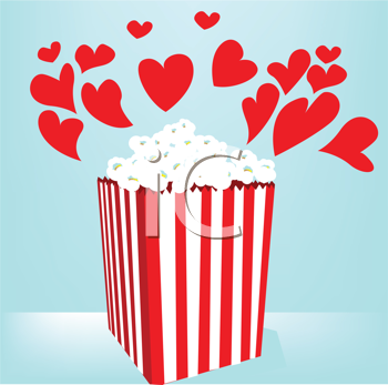 Royalty Free Clipart Image of Movie Popcorn