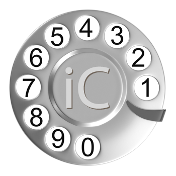 Royalty Free Clipart Image of a Rotary Phone Dial