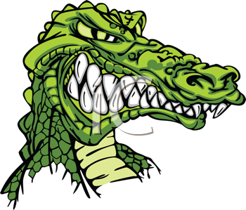 Royalty Free Clipart Image of a Gator