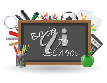 set icons school supplies vector illustration isolated on white background