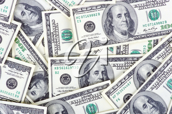 Dollars background - abstract business money texture