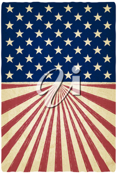 stripes and stars old background - vector illustration