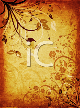 Abstract floral design on grunge background