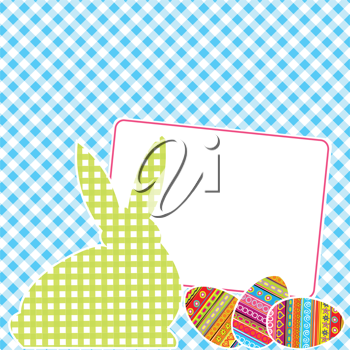 Textile patchworks Easter card
