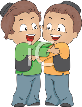 Royalty Free Clipart Image of Two Eastern Boys