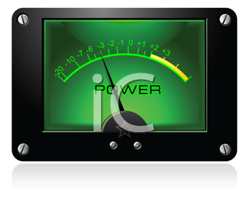 Royalty Free Clipart Image of an Analog Electronic VU Signal Meter