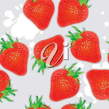 Royalty Free Clipart Image of a Seamless Strawberry Background