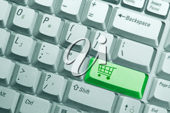 Royalty Free Photo of an Online Shopping Concept