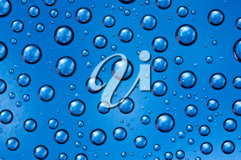 Royalty Free Photo of a Closeup of a Water Drops Background