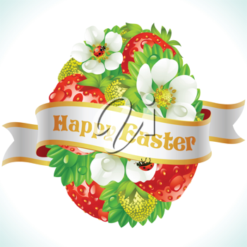 Royalty Free Clipart Image of an Easter Greeting