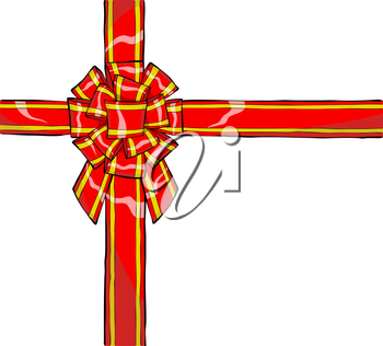 Royalty Free Clipart Image of a Gift Ribbon
