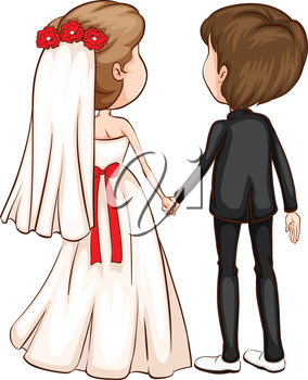 Illustration of a wedding ceremony
