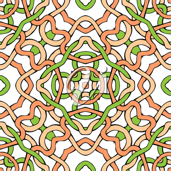 Light twisted lines on white background. Vector illustration.