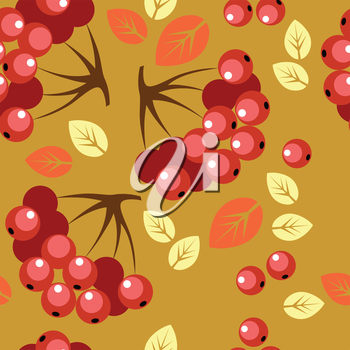 Vector. Seamless berry ornament  in color 50